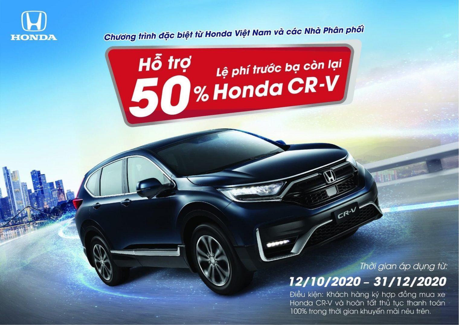 Honda CR-V ưu đãi 100% thuế trước bạ – Honda Ôtô Tiền Giang