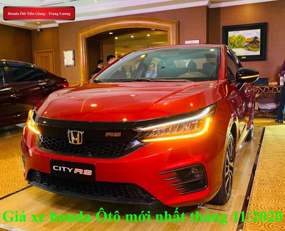 Giá Xe Honda Ô tô tháng 11/2020 – Honda Ô tô Tiền Giang