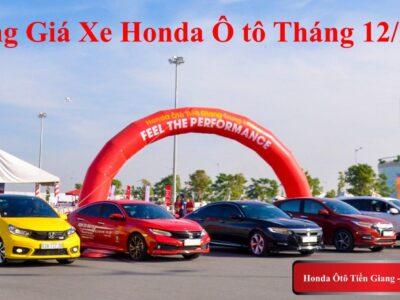 Bảng Giá Xe Honda Ô tô Tháng 12/2020 - Honda Ô tô Tiền Giang